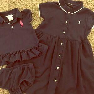 Ralph Lauren dresses. Matching sister set
